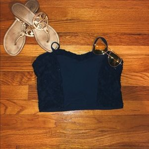 HOLLISTER | Lacey cotton crop top
